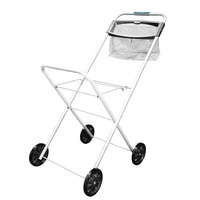 Hills Premium Laundry Trolley with Peg Basket