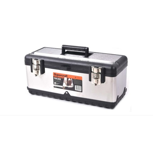 Supercraft 470mm Tool Box Plastic & Stainless Steel