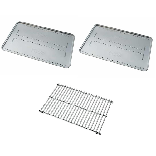 Weber BBQ Roasting Pack Q2000 #991161 Trivet & Convection Trays