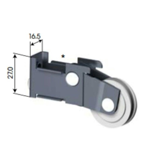 Doric DR206 Adjustable Sliding Door Wheel/Sliding Door Roller Carriage (Pair)